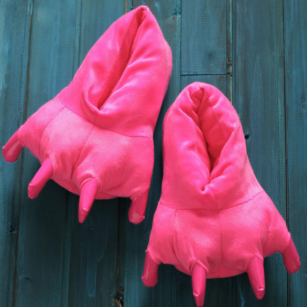 Family Matching Fluffy Antiskid Dinosaur Claw Slippers