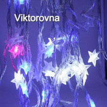 Viktorovna 10M 33FT Christmas Lights multi color RGB LED Fairy String curtain Lights for Xmas Garland Party Wedding Lamp(China)
