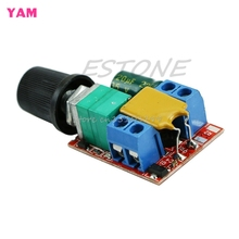 Mini DC 5A Motor PWM Speed Controller 3V-35V Speed Control Switch LED Dimmer #G205M# Best Quality
