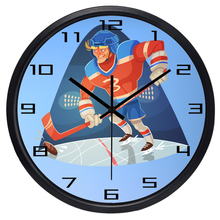 Cartoon Athletes Wall Clock Snowball weight Football Soccer Goal Keeper