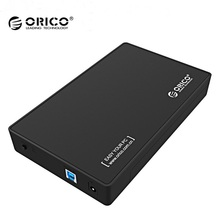 ORICO 3588US3 3.5 inch USB 3.0 SATA External Hard Drive Disk Case HDD Enclosure Tool Free support 4TB for Notebook Desktop PC