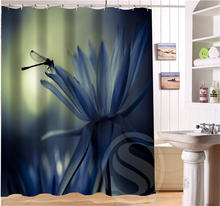 Beautiful Dragonfly Retro Custom Shower Curtain Fabric Waterproof Bath  Curtain Bathroom Decor(China)