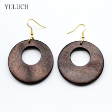 Woman's earring 2017 lady latest african handmade wood earrings eardrop jewelry good quality new design jewelry 1 pair(China)
