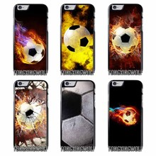Fire Football Soccer Ball  Cover Case For Samsung S4 S5 S6 S7 S8 Eege Plus Note 2 3 4 5 8 for Huawei P8 P9 P10 Lite 2017