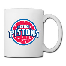 Detroit Basketball Logo coffee mug funky kids tazas ceramic tumbler caneca tea Cups