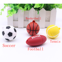 Pendrive Football Tennis Soccer USB Stick 64GB 8GB 16GB 32GB Cartoon basketball model U Disk USB Flash Memory Pen Drive