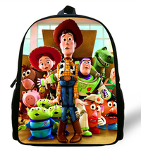 12-inch Mochila School Kids Backpack Toy Story School Bags For Boys Cartoon Woody Roundup Backpack Child Age 1-6(China)