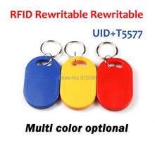 (10 pcs/lot) Dual Chip Frequency RFID 125Khz 13.56mhz T5577 UID Writable Keyfobs Proximity Smart Card for Access Control