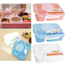 1 Set  3 Colors Portable Microwave Bento Dinner Boxes 5+1 Picnic Food Container Storage Box