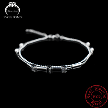New Ladies Foot Anklet 925 Sterling Silver Anklets Bracelet Double Layer Chain For Women Star Pendants Foot Pulseras Jewelry
