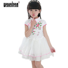 WEONEDREAM Summer Baby Girl Dress Chinese Style Tang Suit Floral Princess Tang Dynasty Kids Dresses For Girls Clothes 3 Designs(China)