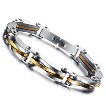 Stainless steel bracelets & bangles fashion hand chain gold bracelet men jewelry male accessories punk jewellery pulseras homme