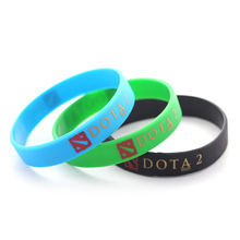 Fashion Silicone Bands Men's Bracelets Dota 2 Wristband Female StarCraft Rubber Bracelet For Women Jewelry Souvenirs Gift