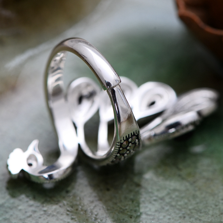Soft Band 925 Sterling Silver Peacock Ring