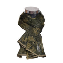 Military Camouflage Tactical Scarf Outdoor Jungle Scarf Sniper Face Veil Scarves for Airsoft Hunting Scarf Army Mesh Wrap Shawl