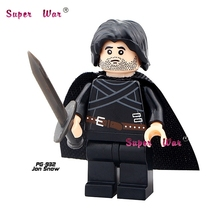 Single Sale Game of Thrones Jon Snow superhero marvel avengers building blocks action sets model bricks toys for children(China)