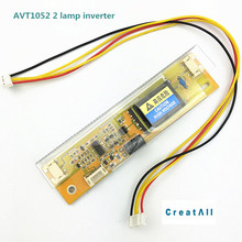 50pcs/lot AVT1502 big port Universal 2 lamp CCFL Backlight Inverter board Input Voltage 10-28V for 15-22 inch Monitors