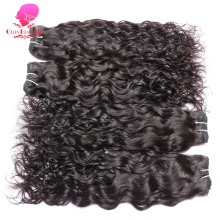 QUEEN BEAUTY HAIR Brazilian Water Wave Hair Bundles Remy Human Hair Weaving 1 Piece Natural Color 12inch To 30inch Hair Weft(China)