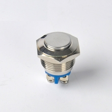 Free ship 16mm Starter Switch Boat Horn Momentary Steel Metal Push Button Switches