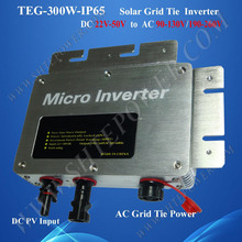 300w inverters solar panel on grid tie IP65 waterproof dc 22-50v input to ac output 80-160v 180-260v output(China)