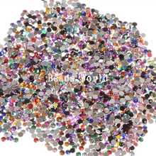 Stones And Crystals Rhinestone Trim 2500 Pcs Mixed Acrylic Round Rhinestone Flat Nail Art Decoration Diy Craft 3mm(w05060 X 1)