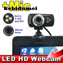 kebidumei USB LED 50Megapixel HD Camera Web Cam Digital Video Webcamera with Microphone MIC for Computer PC Laptop(China)