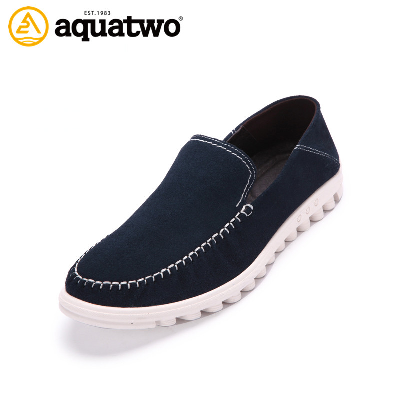 Hot Sale 2017 New Design AQA TWO Brand Suede Leather Shoes For Men Slip On Shoes Loafers Men US5.5-10# Men Shoe Casual Shoes Men<br><br>Aliexpress