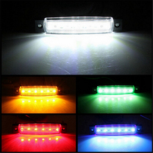 Miumiu 6 LED Side Marker Indicators Lights Lamp 12V for Lorries Truck Trailer Clearance Car Lights Accessories