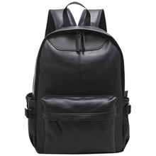 High Quality Vintage Fashion Casual PU Leather Women Men Backpack Bags For Lady Rucksack Teenagers' schoolbags laptop backpack(China)