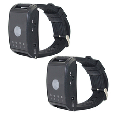 2 pcs Wireless Pager Watch Calling Receiver Call Pager System 4 Channel for Hospital Waiter Nurse Restaurant Pager 433MHz F4411A
