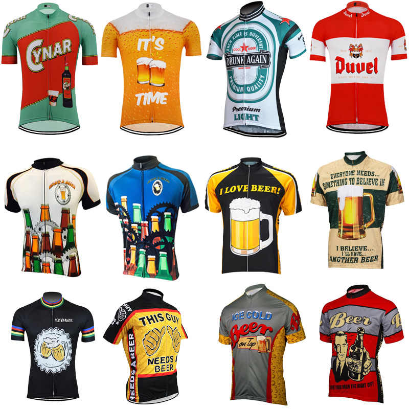 49ed5e102 Hot men s Cycling Jersey Classic retro beer Short sleeve Bicycle Cycling  Clothing Bike Wear Clothes Maillot