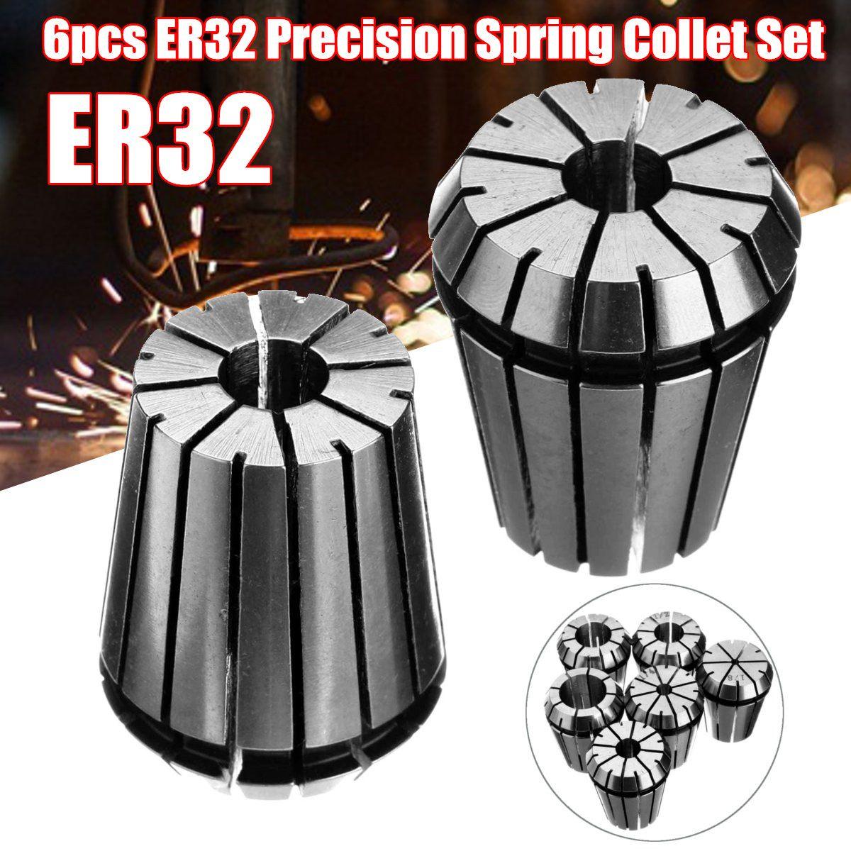 6pcs ER32 Precision Spring Collet CNC Lathe Milling Chuck Tool  1//2/'/' 5//8/'/'