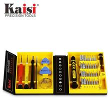 Kaisi Precision 38 in 1 Screwdriver Set Of Chrome Vanadium Steel Disassemble Household Tools for Phone iPhone ipad Mac(China)