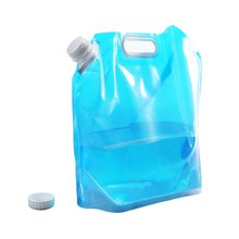 5L Foldable Bucket Outdoor Camping Hiking Survival Water Bag Bottle BPA-free polymer Drinking Water Bag Easy to Carry