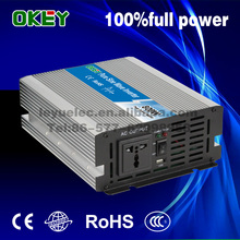 Chinese supplier 800w DC AC 24V to 110v/220v Pure sine wave single output power inverter 50/60Hz