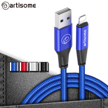 USB Cable For iPhone 6 6S 7 Plus 5S 5 SE Mobile Phone Cables Fast 2A USB Charger Data Cable For iPhone iPad Air iPod Mini