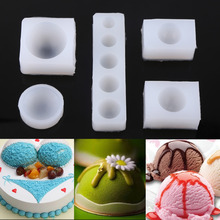 5Pcs/Set Creative DIY Half Round Cabochon Silicone Mold Mould For Epoxy Resin Jewelry Making
