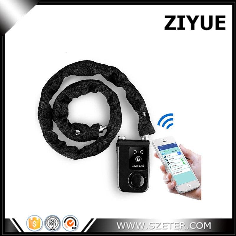Intelligent Smart Waterproof  Bluetooth alarm Lock Chain Anti Theft Alarm Keyless Phone App Control<br>