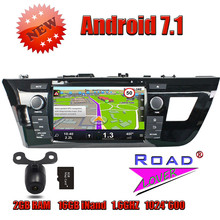 Wanusual 2G+16GB Quad Core Android 7.1 Car DVD Player For Toyota Levin 2014 Stereo GPS Navigation Multi-Touch Screen 1080P HW BT(China)