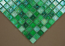 New Fresh Glazed Green Crystal Glass Mosaic Tile for kitchen wall bathroom border stairs porch Wall Tile, Floor Tile, MD-G68(China)