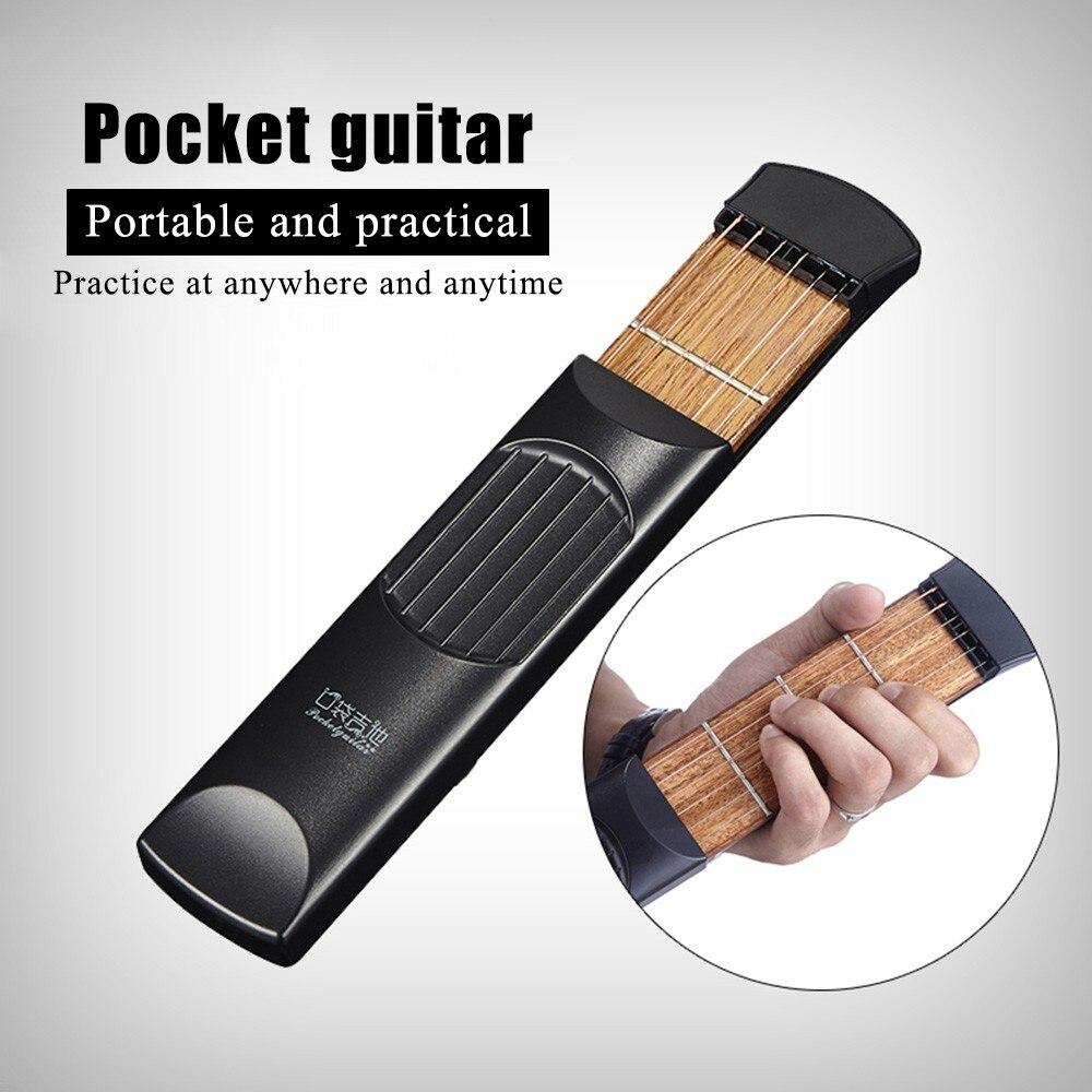 Mini Guitar Pocket Guitar Portable Guitar Trainer Guitar Chords Practice Tools<br><br>Aliexpress