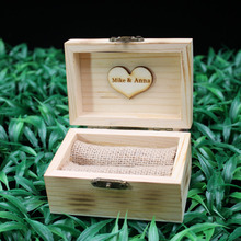 Buy Valentines Engagement Wooden Ring Bearer Box, Rustic Wedding Ring Box Holder Custom Ring Box, Personalized Wedding 1 for $9.49 in AliExpress store