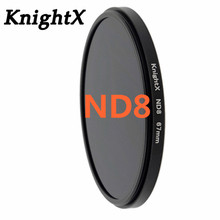 KnightX Grad nd8 nd 49MM 52MM 55MM 58MM 62MM 67MM 72MM 77MM lens filter for Sony Canon Nikon accessories digital camera 49 52 55(China)