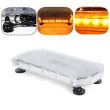 12/24V 56W 56 LED Car Truck Vehicle Strobe Emergency Warning Flashing Light Bar Beacons Lights Lamp Amber