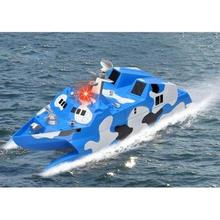 Hot Sale New Mode1 Boats Barco De Controle Remoto 2.4g High Speed Racing Rc Boat Electric Control Ship Model Military Toys(China)