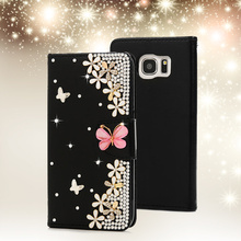 [Mavis's Diary] 3D Bling Crystal Diamond Rhinestone Leather Flip Wallet Case Cover For Samsung Galaxy S7 Edge G935A G935F 5.5''