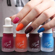 1PC Professional Cute Bottle 10ml Nail Art Makeup Cosmetics 30 Colors Pigments Stamping Print Pink White Matte Nail Polish