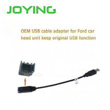 JOYING Hot Sale OEM USB Harness Wiring Cable Adapter For Ford Car Stereo Radio Head Unit Keep Original USB Function(China)