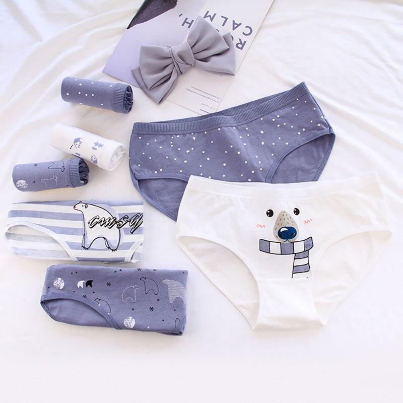 1/6pcs Polar Bear Pattern Cotton Women