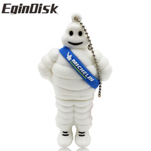 EginDisk Michelin pendrive  4GB 8GB 16GB 32GB 64GB Cartoon lovely USB Flash Drives Pen drive USB 2.0 Memory stick